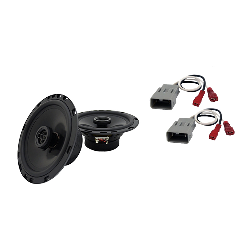Harmony Audio Bundle Compatible with 2003-2011 Honda Element HA-C65 6.5? Replacement 350W Speakers & Grills with HA-727800 Replacement Harness