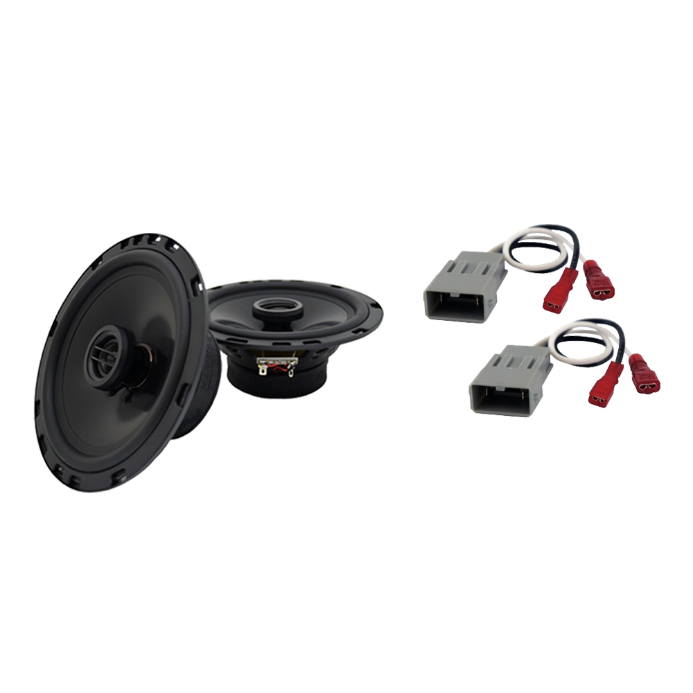 """Harmony Audio Compatible with 2001-2006 Honda Insight HA-R65 6.5"""" Front Door Replacement 300W Speakers With HA-727800 Speaker Replacement Harness"""