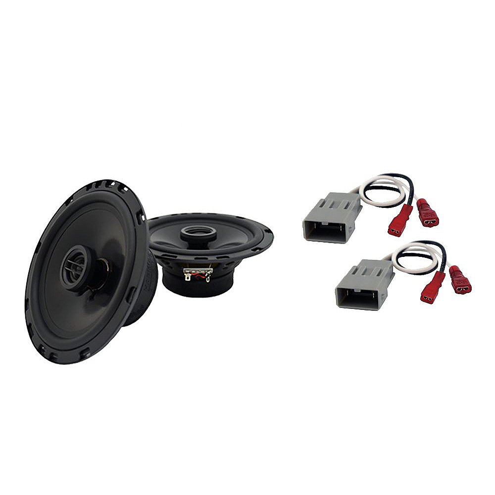 """Harmony Audio Bundle Compatible With 2014-2015 Honda Odyssey Touring HA-R65 6.5"""" Replacement 300W Speakers And HA-727800 Speaker Replacement Harness"""