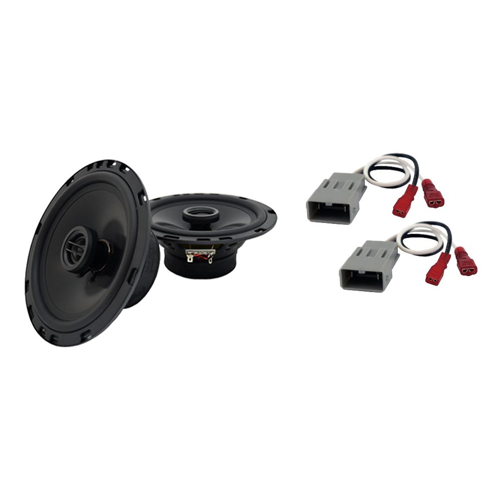 Harmony Audio Bundle Compatible with 2014-2015 Honda Odyssey Touring HA-R65 6.5? Replacement 300W Speakers & Grills with HA-727800 Replacement Harness
