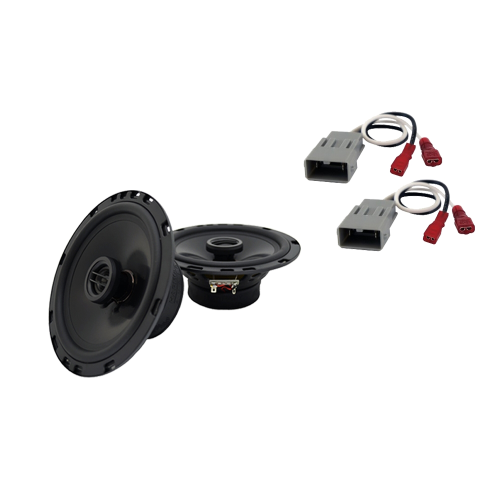 """Harmony Audio  Compatible with 2003-2008 Honda Pilot HA-R65  6.5"""" Replacement 300W Speakers & Grills with HA-727800 Speaker Replacement Harness"""