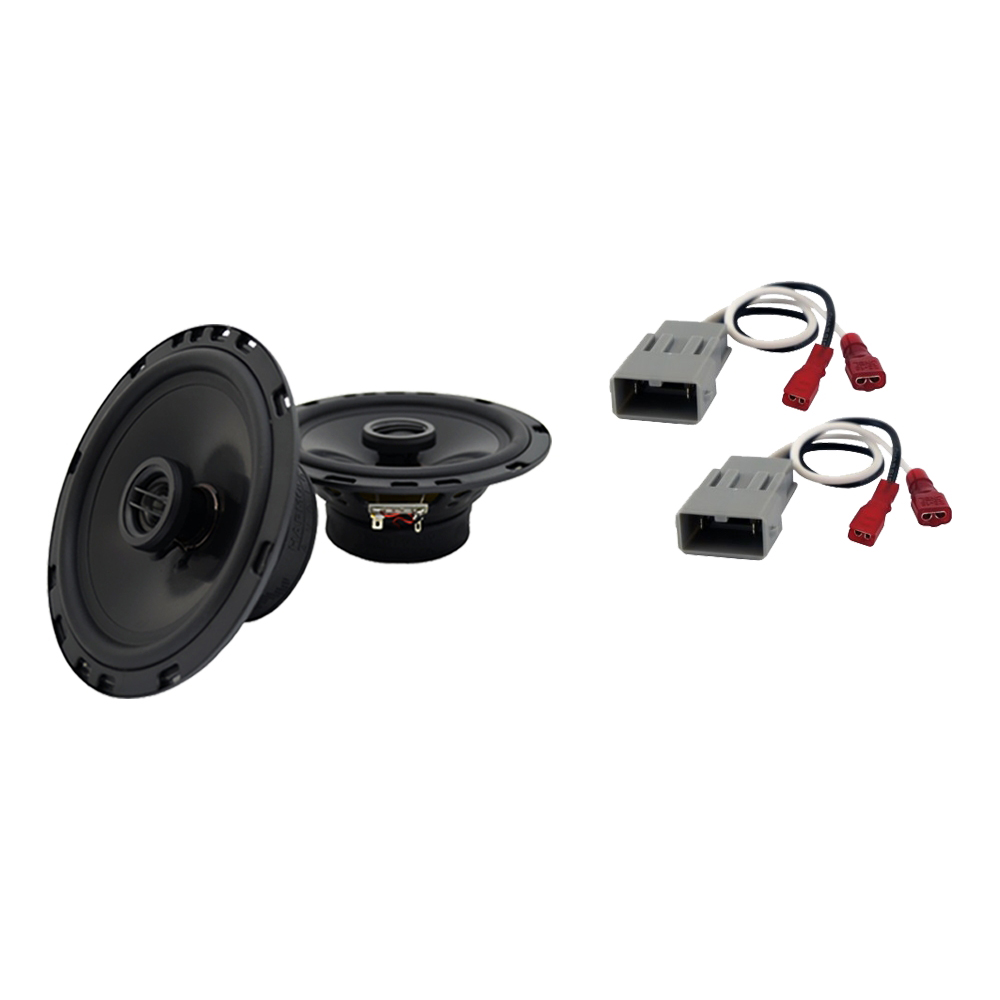 """Harmony Audio Compatible with 1988-1991 Honda Prelude HA-R65 6.5"""" Front Door Replacement 300W Speakers With HA-727800 Speaker Replacement Harness"""