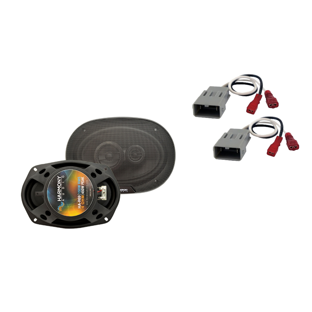 """Harmony Audio Compatible with 1997-2001 HA-R69 6x9"""" Replacement 450W Speakers, and HA-727800 Speaker Replacement Harness"""