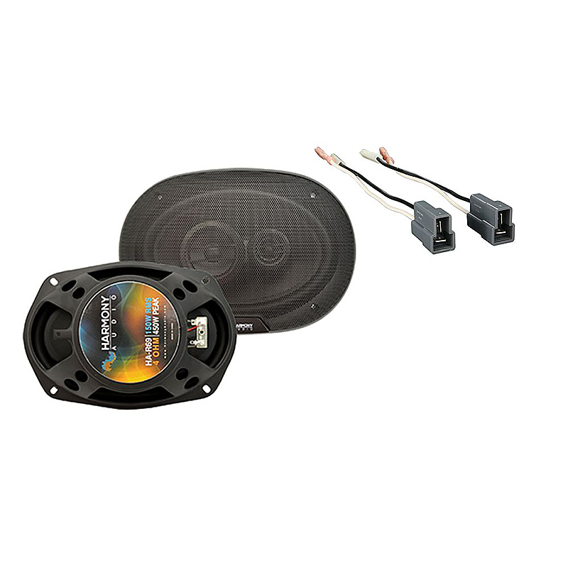 Harmony Audio Compatible With 2002-05 Hyundai Sonata HA-R69 New Rear Deck Replacement Speaker Pair