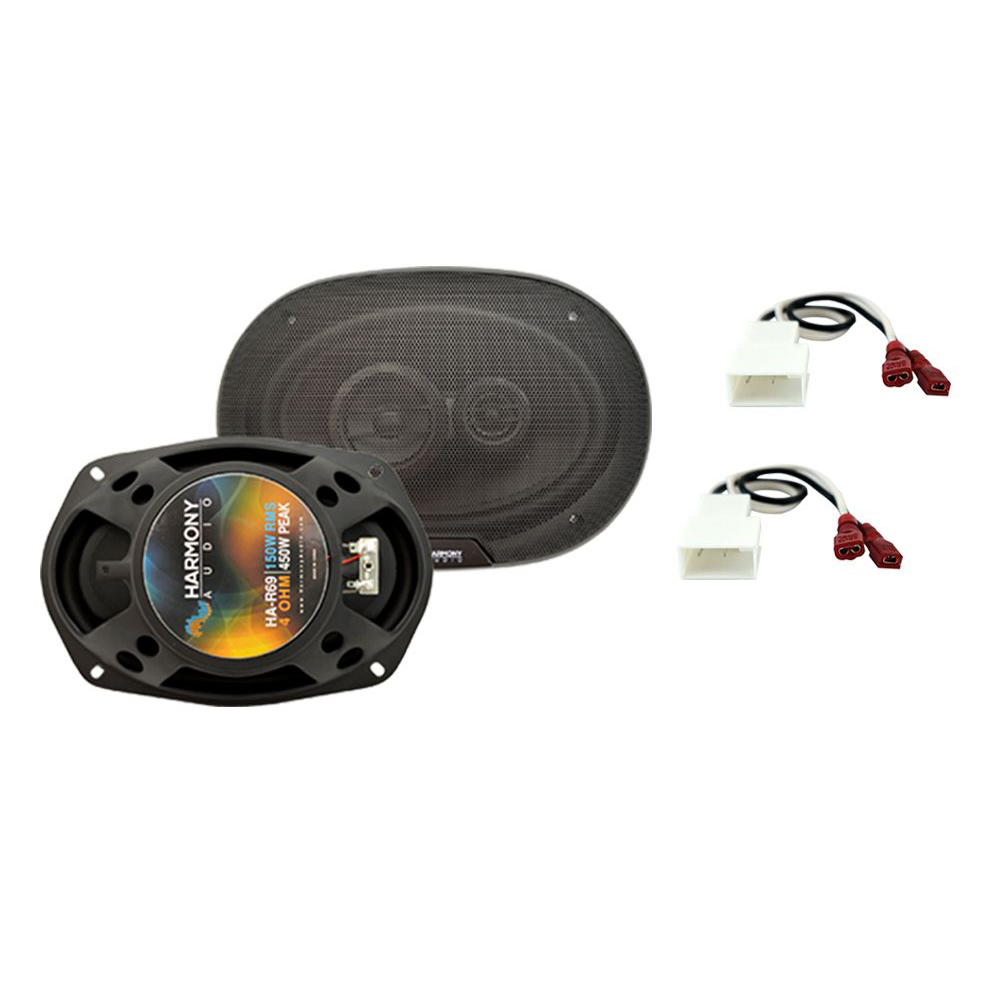 Harmony Audio Compatible With 2003-08 Hyundai Tiburon HA-R69 New Rear Side Panel Replacement Speaker Pair