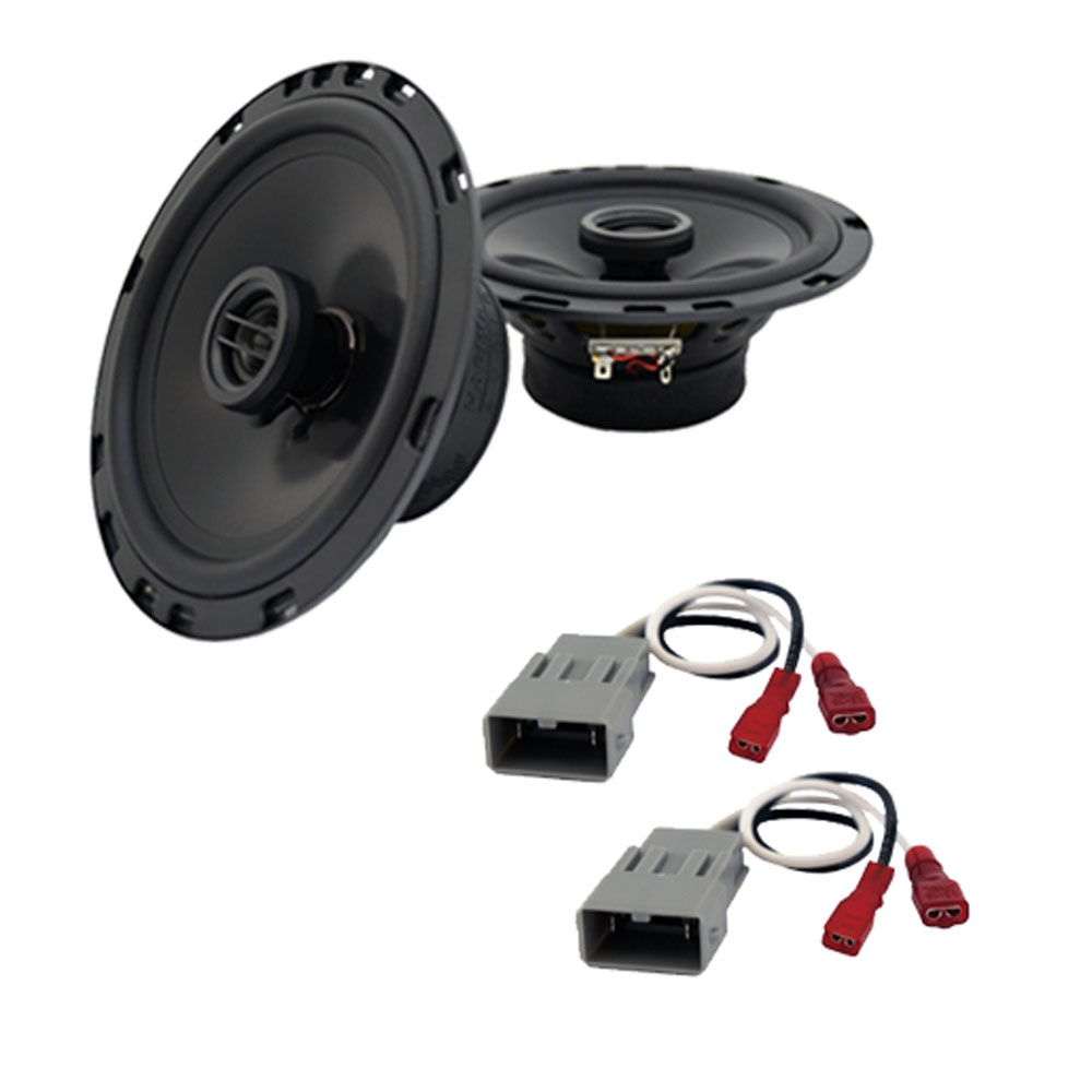 """Harmony Audio Bundle Compatible With 2001-2006 Acura MDX  HA-R65 6.5"""" Replacement 300W Speakers And HA-727800 Speaker Replacement Harness"""