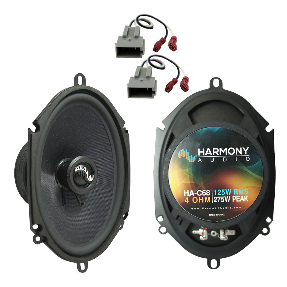 Harmony Audio Bundle Compatible with 1990-2002 Lincoln Town Car HA-C68 5x7? 5x7? Replacement 275W Speakers with HA-725512 Replacement Harness