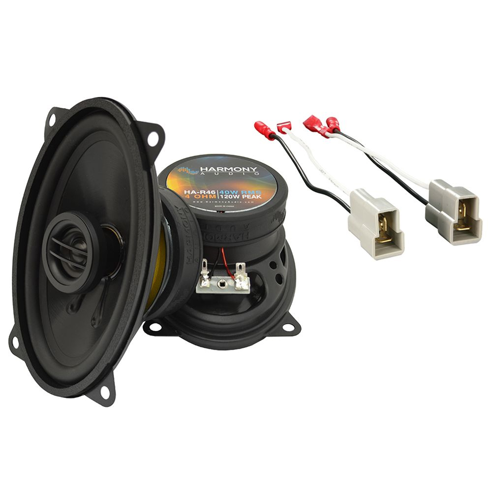 Harmony Audio Compatible With 1989-94 Nissan 240SX HA-R46 New Front Door Replacement Speaker Pair