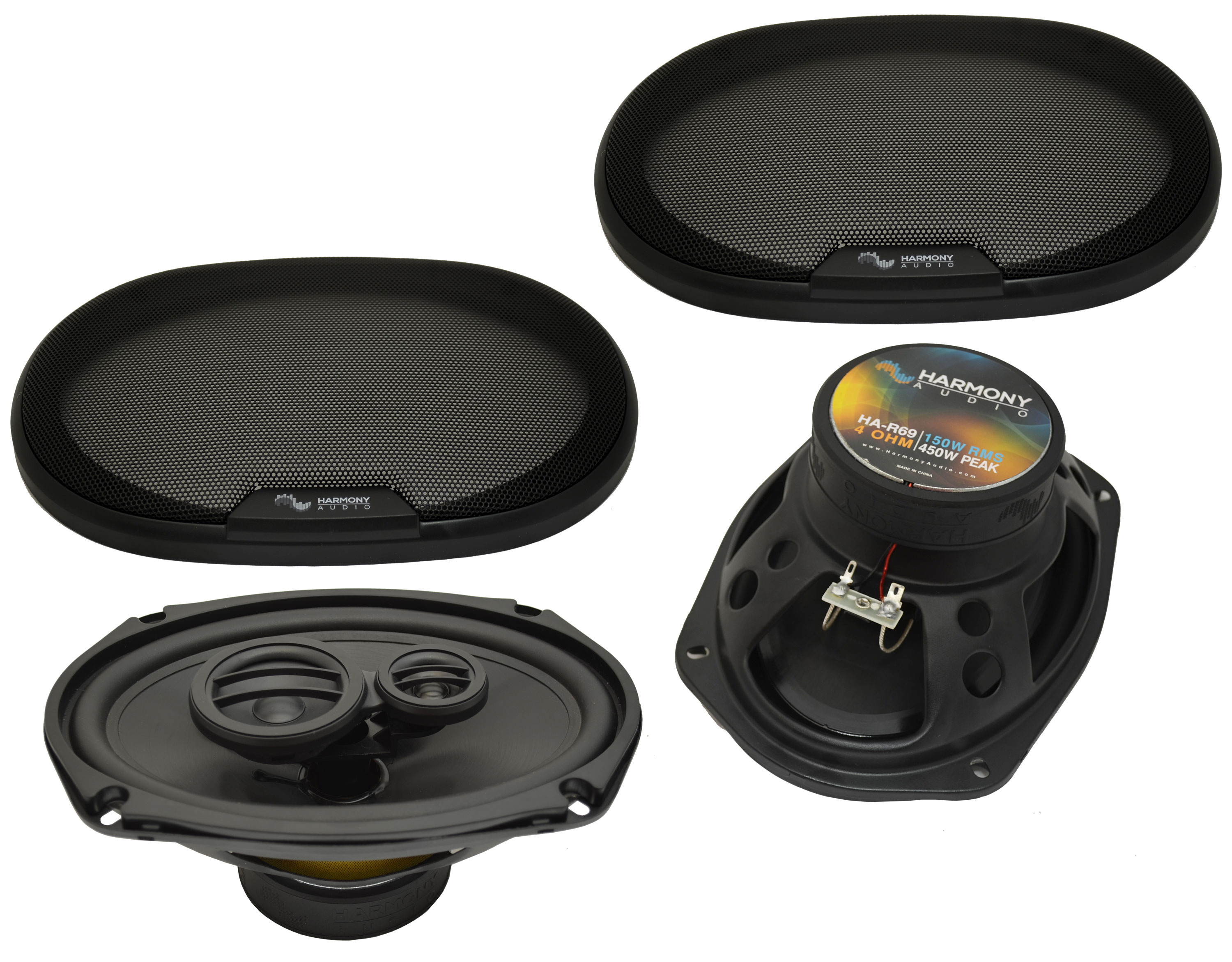 Fits Oldsmobile Ninety-Eight 1985 Rear Deck Replacement Harmony HA-R69 Speakers
