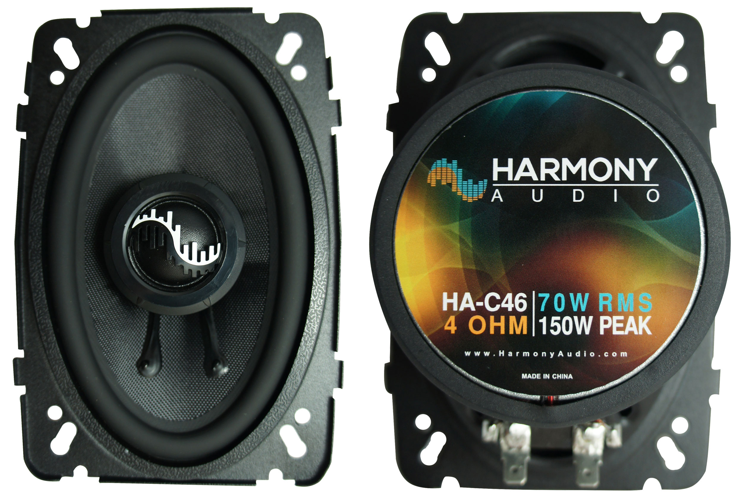 Fits Yugo GVX 1986-1990 Rear Deck Replacement Speaker Harmony HA-R46 Speakers