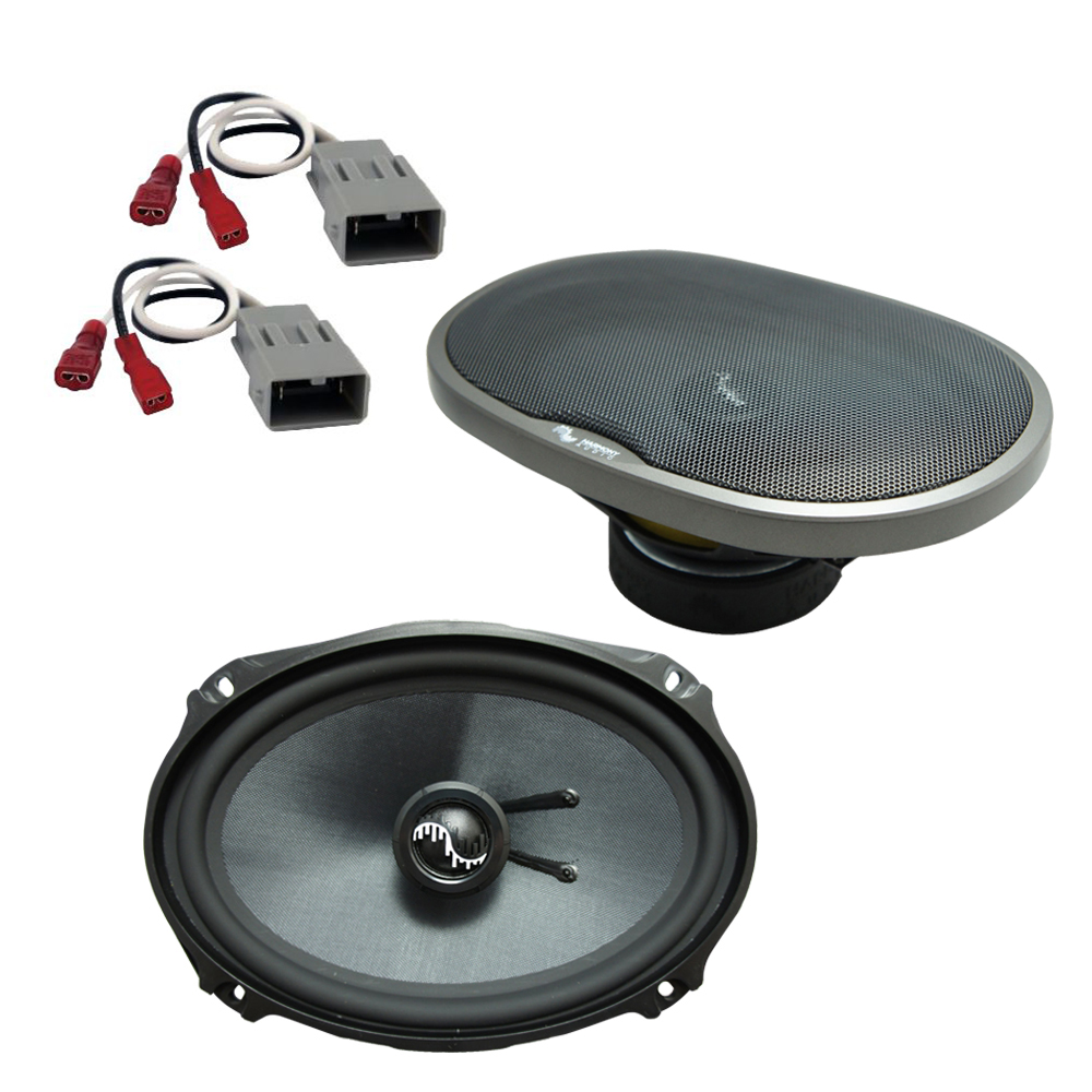 Harmony Audio Bundle Compatible With 1999-2013 Acura RL HA-C69 Car Stereo Replacement, and HA-727800 Speaker Replacement Harness
