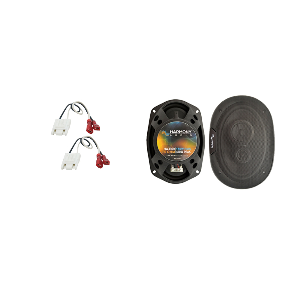 Harmony Audio Compatible With 1985-92 Cadillac Fleetwood HA-R69 New Rear Deck Speaker Replacement Upgrade