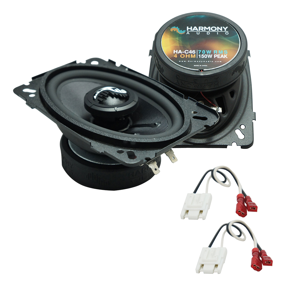 """Harmony Audio Compatible with 1988-1994 Chevy CK Pickup HA-C46 4x6"""" New Premium Front Dash Replacement 150W Speakers And HA-724500 Speaker Replacement Harness"""