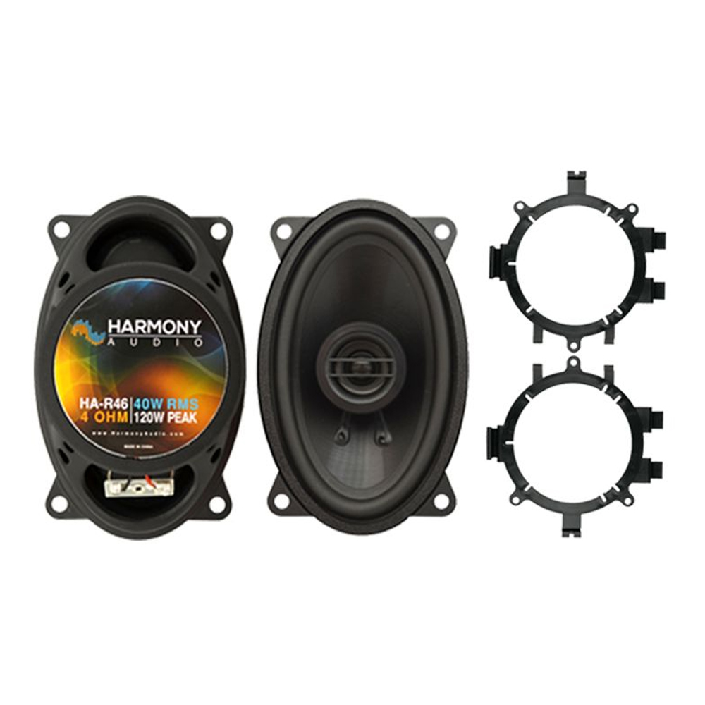 Harmony Audio Compatible With 1995-00 Chevy CK Pickup HA-R46 New Rear Pillar Replacement Speaker Pair