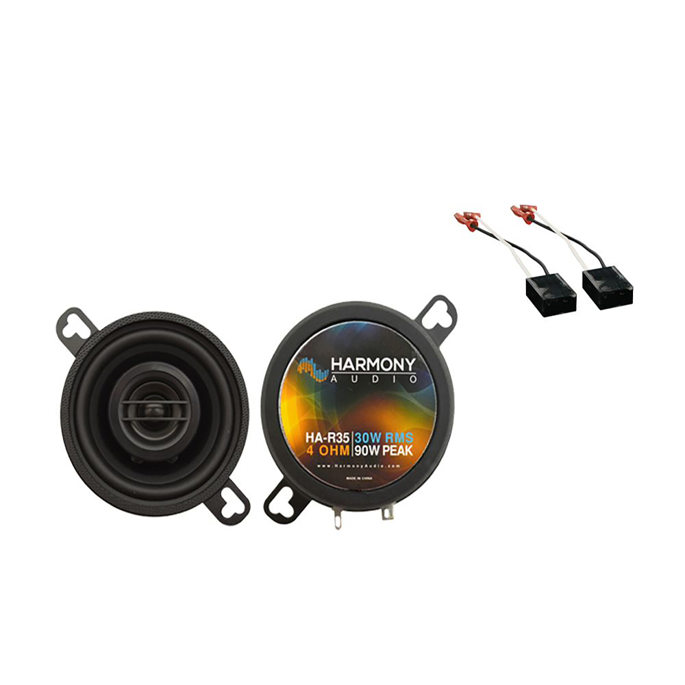Harmony Audio Compatible With 1991-94 Chevy Cavalier HA-R35 New Front Dash Replacement Speaker Upgrade