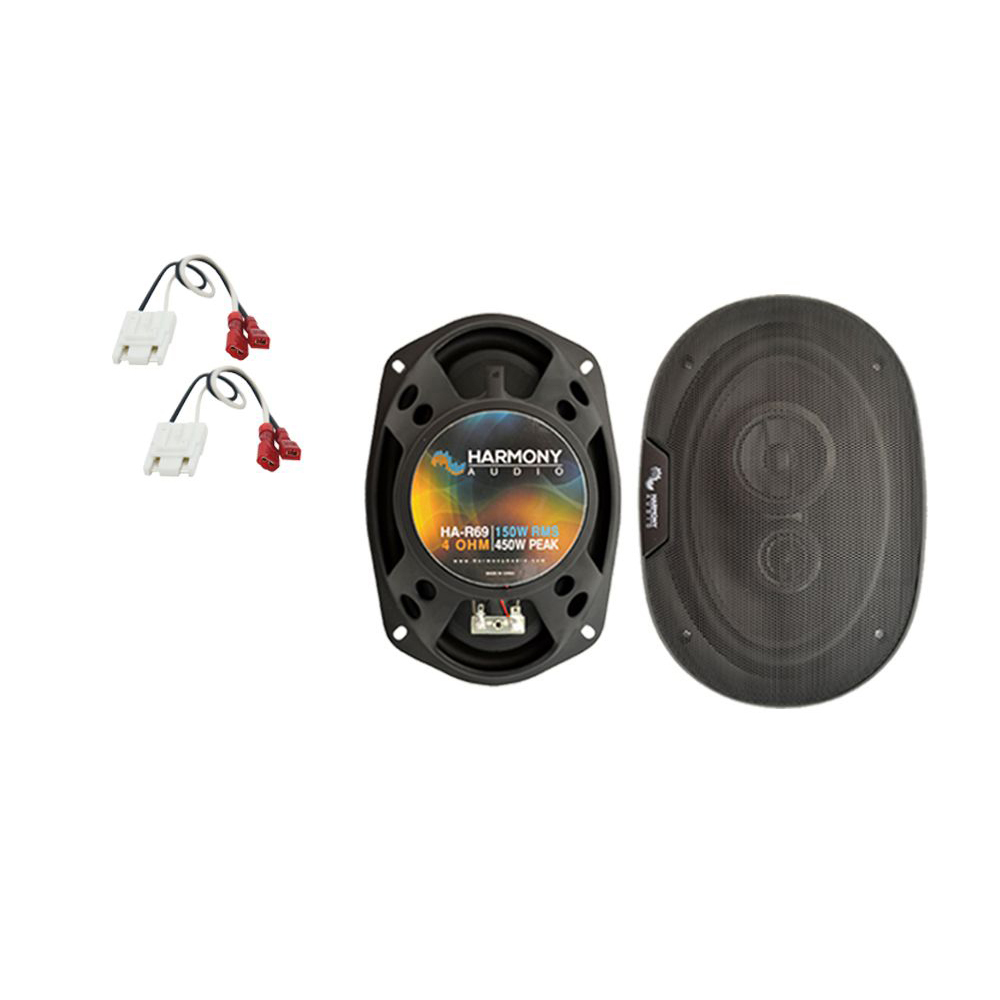 Fits Chevy Celebrity 1984-1990 Rear Deck Replacement Harmony HA-R69 Speakers