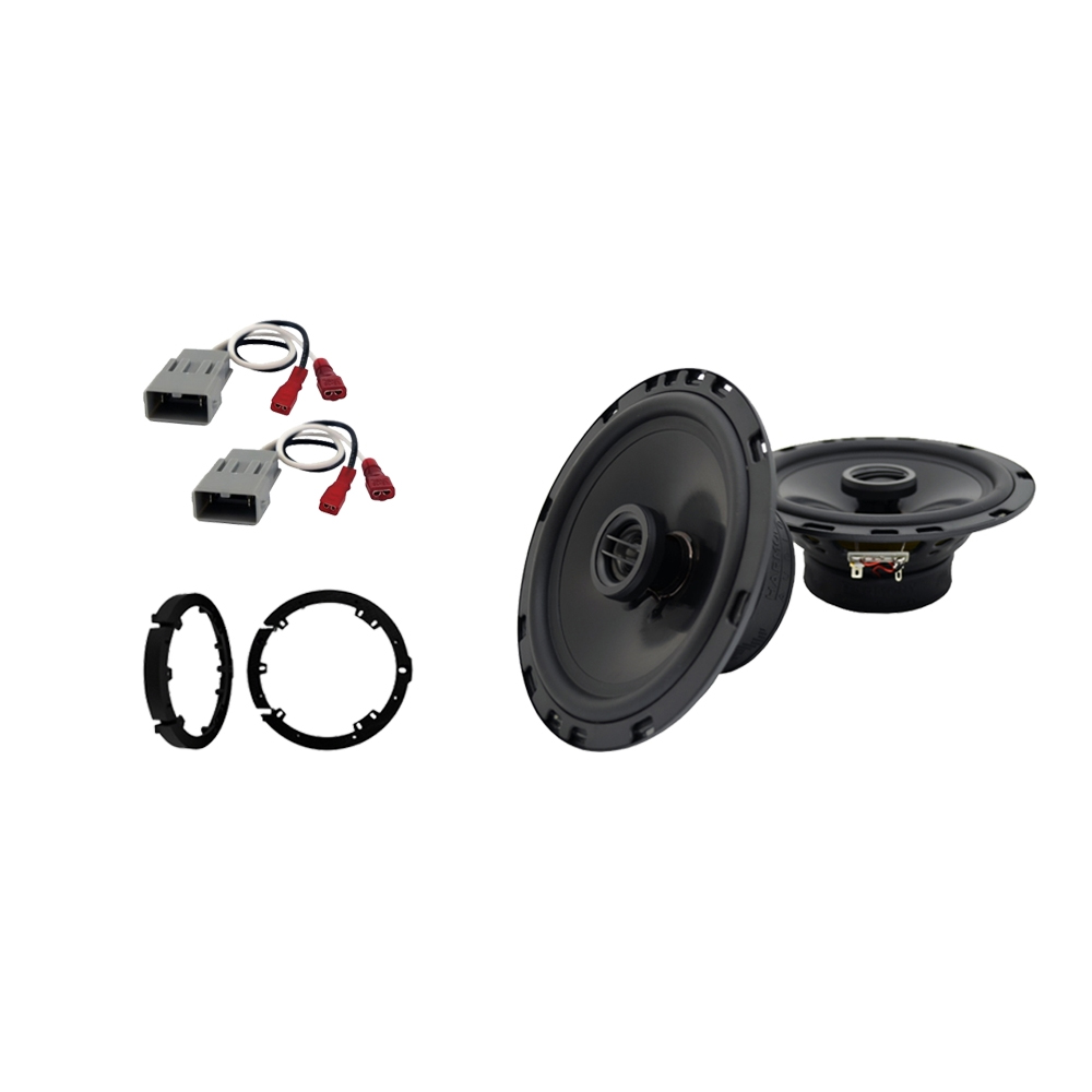"""Harmony Audio Bundle Compatible With 2009-2014  Acura TL HA-R65 6.5"""" Replacement 300W Speakers With HA-827805 6.5"""" Speakers Adapter Kit And HA-727800 Speaker Replacement Harness"""