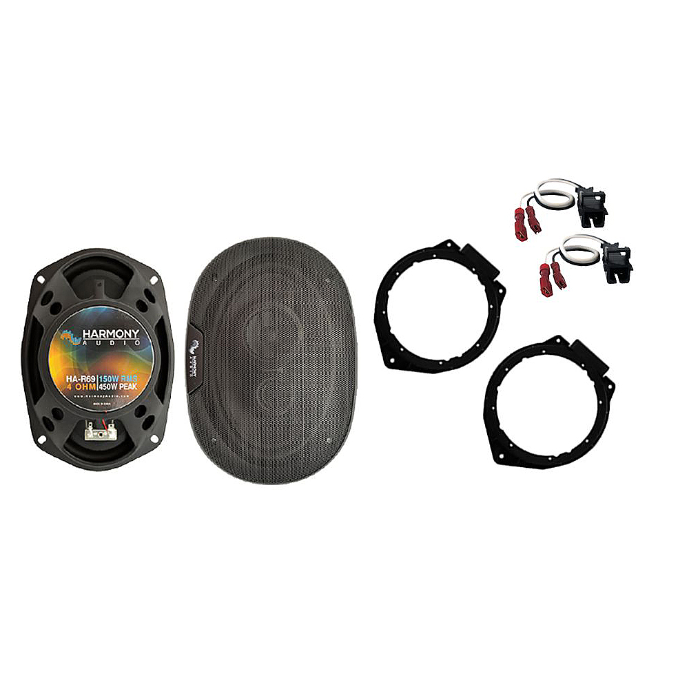 Harmony Audio Bundle Compatible with 2006-2012 Chevy HHR HA-R69 New Rear Deck Speaker Replacement Upgrade Package With HA-724568 Speaker Replacement Harness And HA-823006 Aftermarket Speakers Adapter