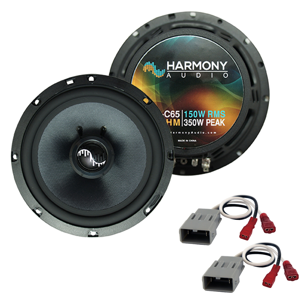 """Harmony Audio Bundle Compatible With 1986-2001 Acura Integra HA-C65 6.5"""" Replacement 350W Speakers And HA-727800 Speaker Replacement Harness"""