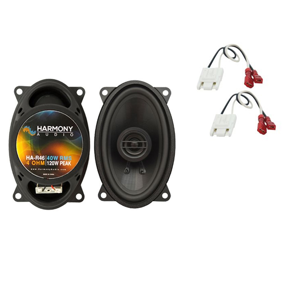 Harmony Audio Bundle Compatible with 1982-1994 Chevy S-10 Blazer HA-R46 New Front Dash Speaker Replacement Upgrade Package With HA-724500 Speaker Replacement Harness