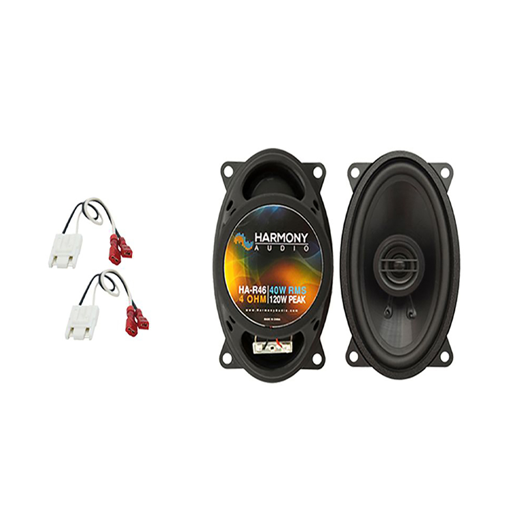Harmony Audio Compatible With 1982-93 Chevy S-10 Pickup HA-R46 New Front Dash Replacement Speaker Pair