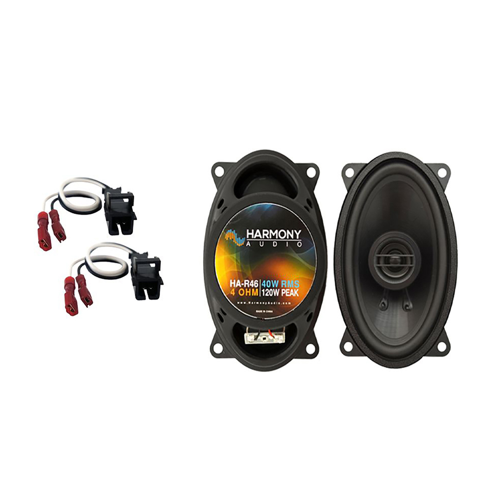 Harmony Audio Compatible With 1994-01 Chevy S-10 HA-R46 New Rear Pillar Replacement Speaker Upgrade