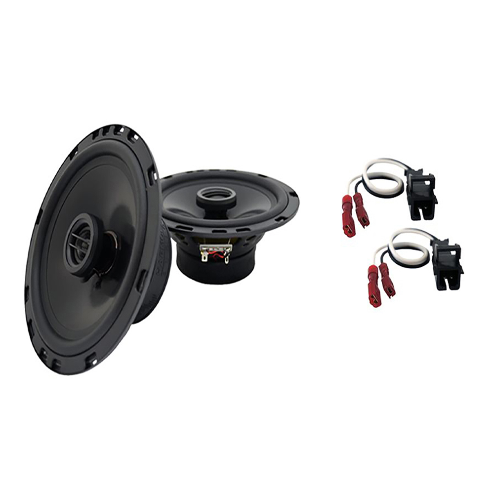"""Harmony Audio Compatible with 1995-2006 Chevy Tahoe HA-R65 6.5""""New Rear Door Replacement 300W Speakers And HA-724568 Factory Speaker Replacement Harness"""