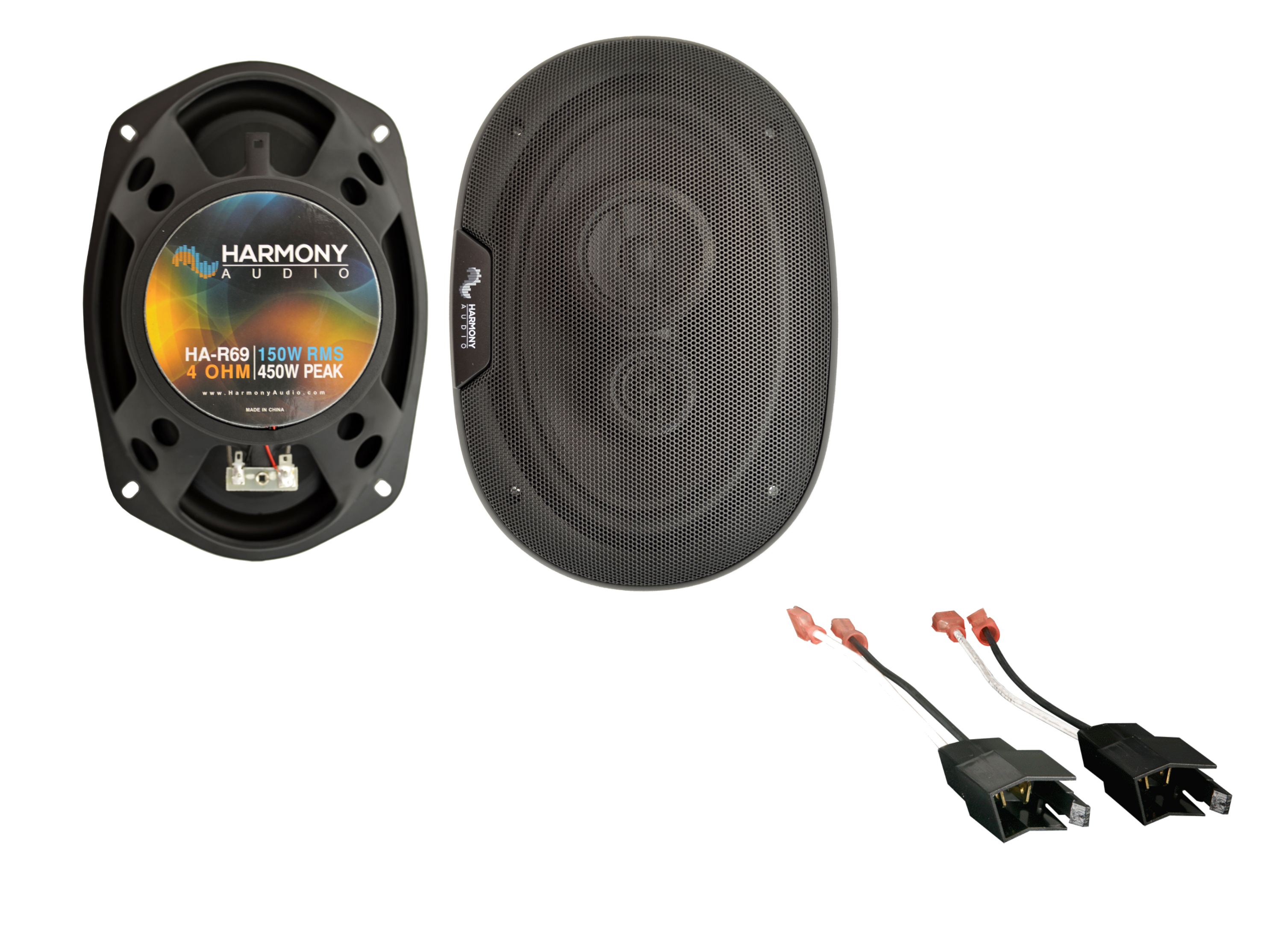 Fits Chrysler LeBaron 1984-1995 Rear Replacement Speaker Harmony HA-R69 Speakers