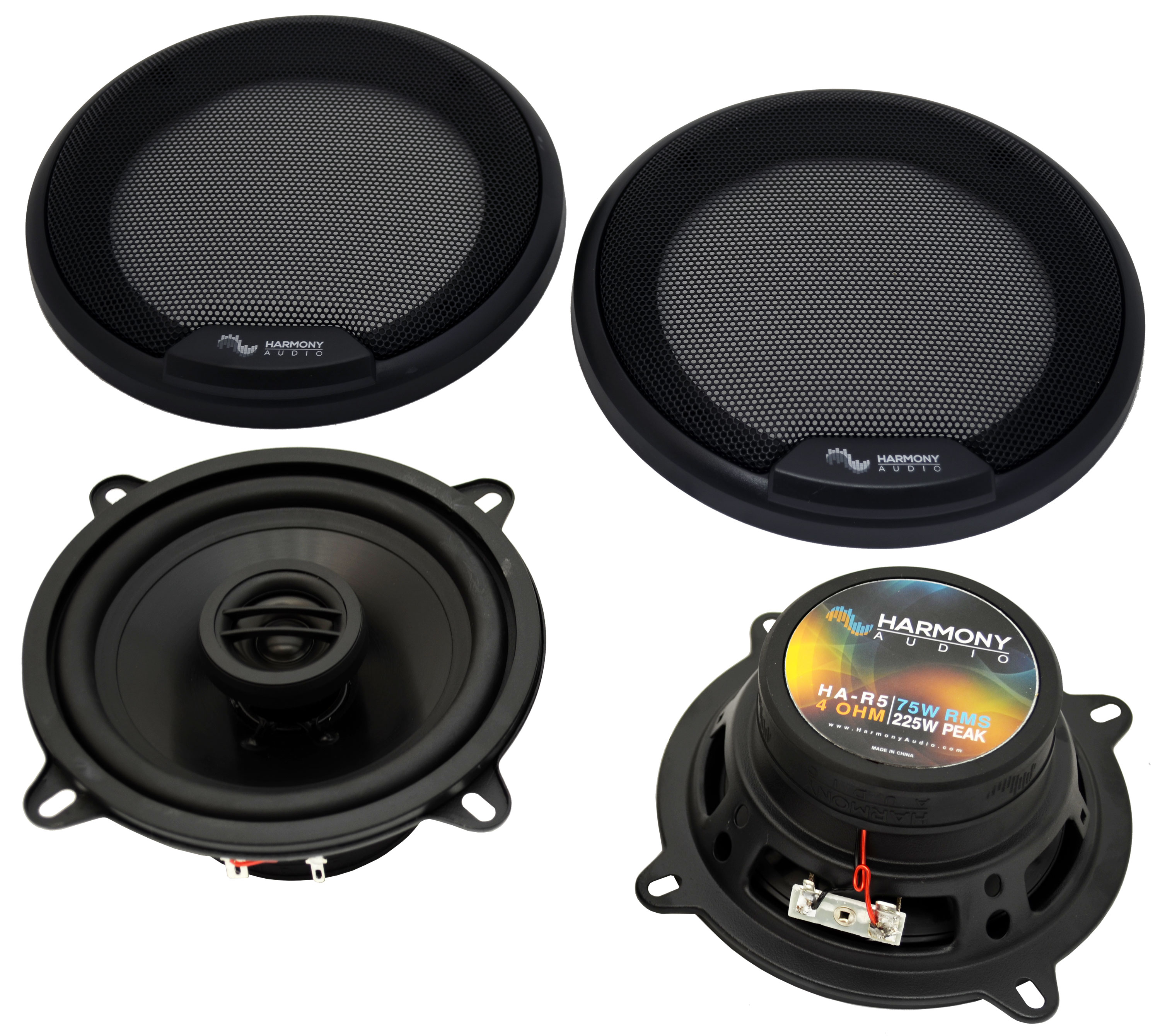"""Harmony Audio Compatible with 1996-2009 Audi A4 HA-R5 Front Door Replacement 5.25"""" 225W Speakers"""