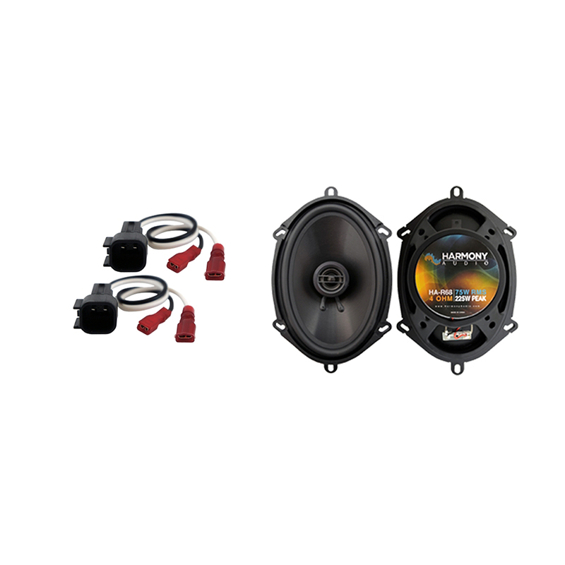 Harmony Audio Compatible With 2001-12 Ford Escape HA-R68 New Front Door Replacement Speaker Upgrade