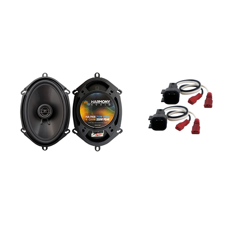 Harmony Audio Compatible With 2006-10 Ford Explorer HA-R68 New Front Door Replacement Speaker Pair