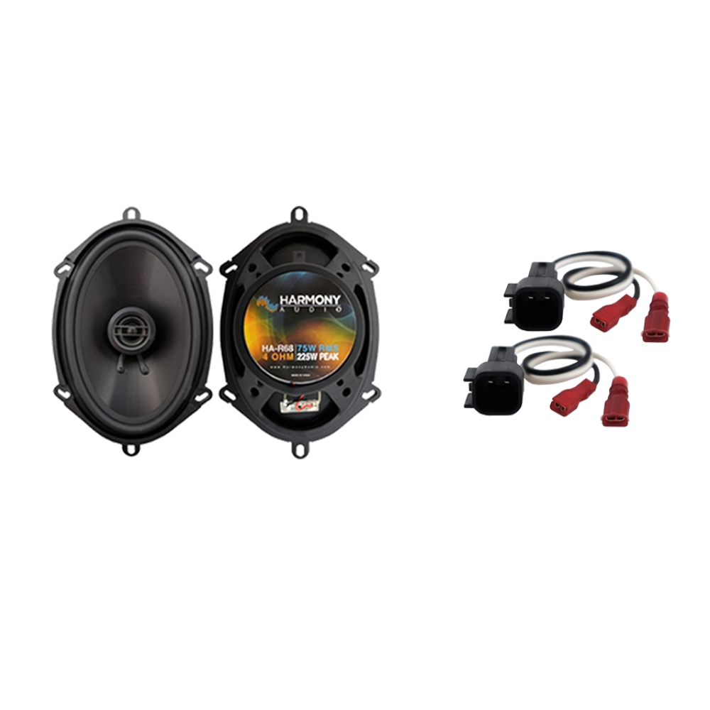 """Harmony Audio Compatible with 2001-2010 Ford Explorer Sport Trac HA-R68 Front Door Replacement 5x7"""" 6x8"""" 225W Speakers, and HA-725600 Speaker Replacement Harness"""