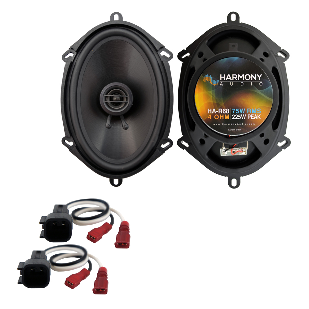 Harmony Audio Compatible with 2004-2008 Ford F-150 HA-R68 New Front Door Replacement 225W Speakers And HA-725600 Speaker Replacement Harness