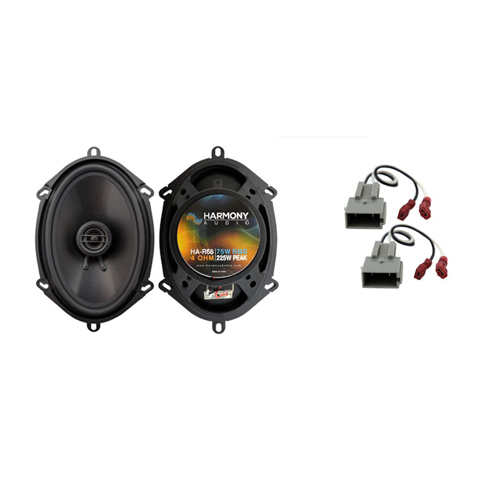 Harmony Audio Compatible With 2017 Ford F-250 HA-R68 New Rear Door Replacement Speaker Upgrade
