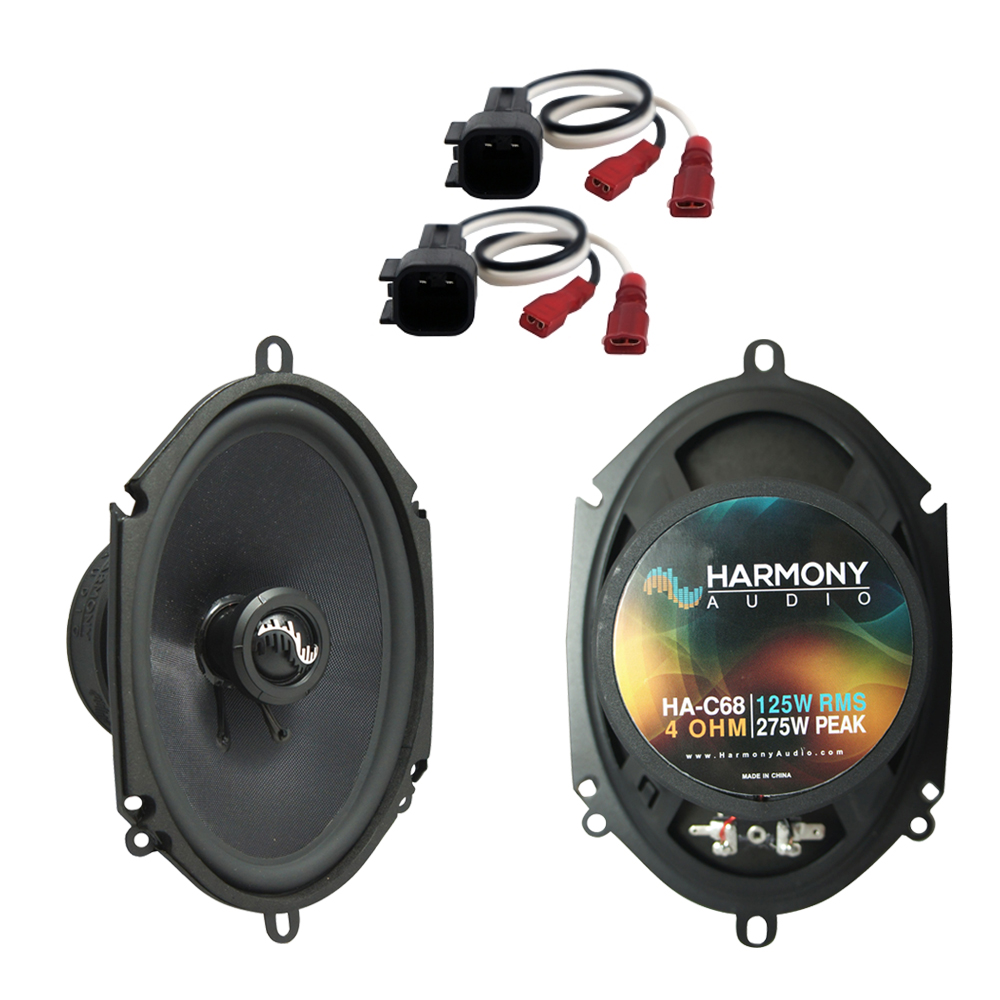 Harmony Audio Bundle Compatible with 2017 Ford F-350 HA-C68 5x7? 5x7? Replacement 275W Speakers with HA-725600 Replacement Harness