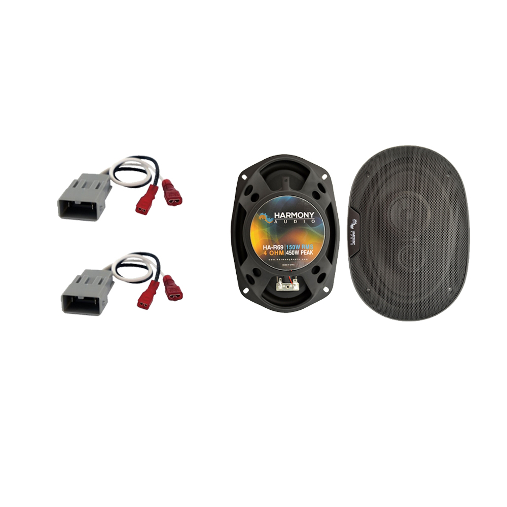 """Harmony Audio Compatible with 1990-1996 Acura Legend HA-R69 6x9"""" Rear Deck Replacement 450W Speakers With HA-727800 Speaker Replacement Harness"""