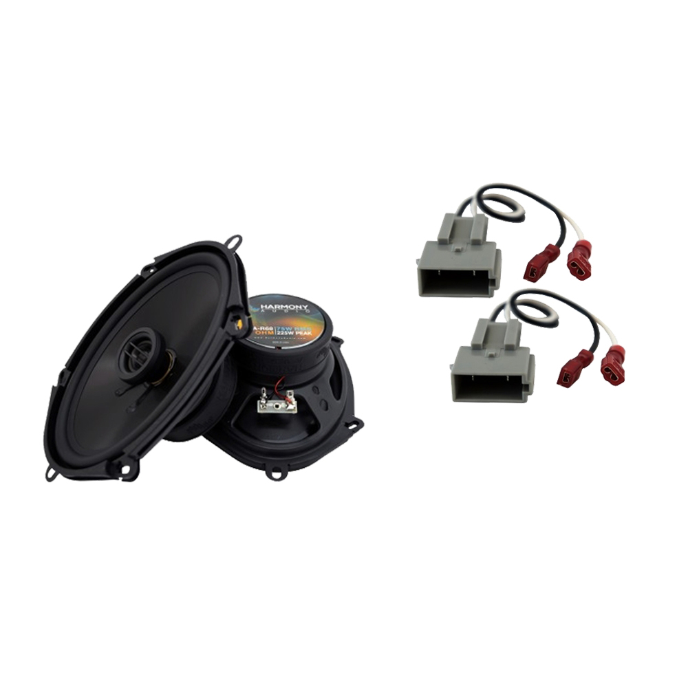 Harmony Audio Compatible With 1994-98 Ford Mustang HA-R68 New Front Door Replacement Speaker Pair