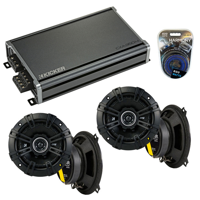 Compatible with Hyundai Accent 2000-2001 Speaker Replacement Kicker (2) DSC5 & CXA360.4 Amp