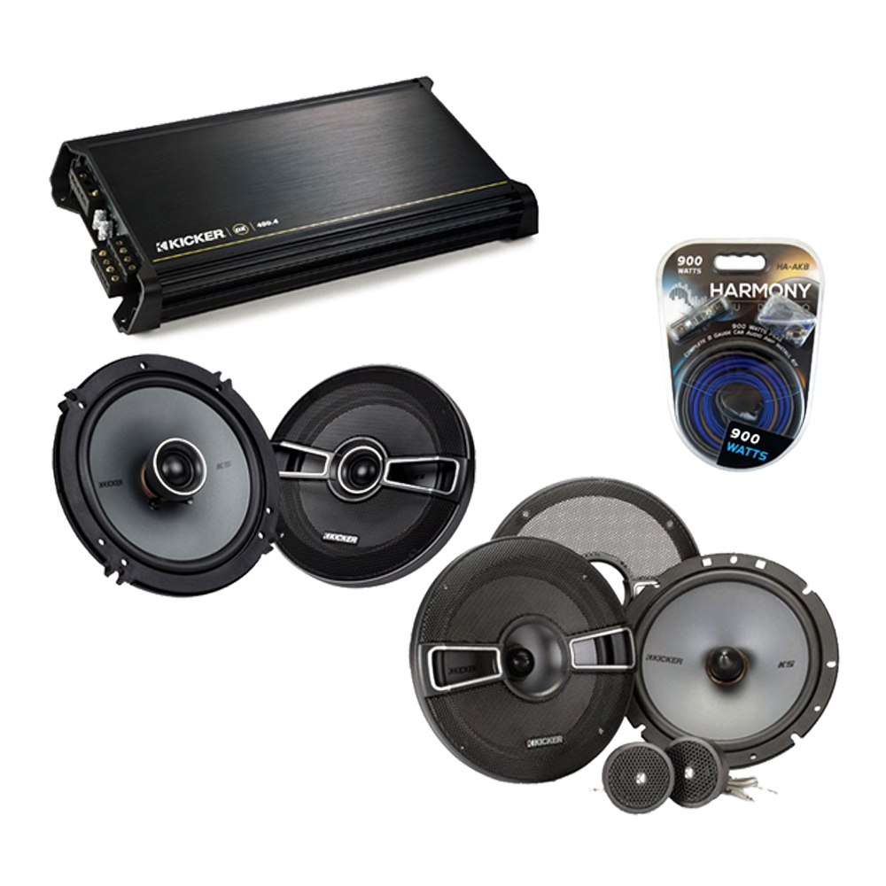 Hyundai Elantra 2007-2010 OEM Speaker Upgrade Kicker KSS65 KSC65 & DX400.4 Amp