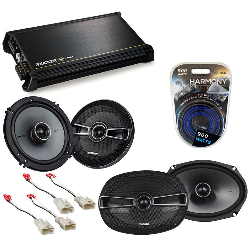 Hyundai Tiburon 2003-2008 OEM Speaker Upgrade Kicker KSC65 KSC69 & DX400.4 Amp