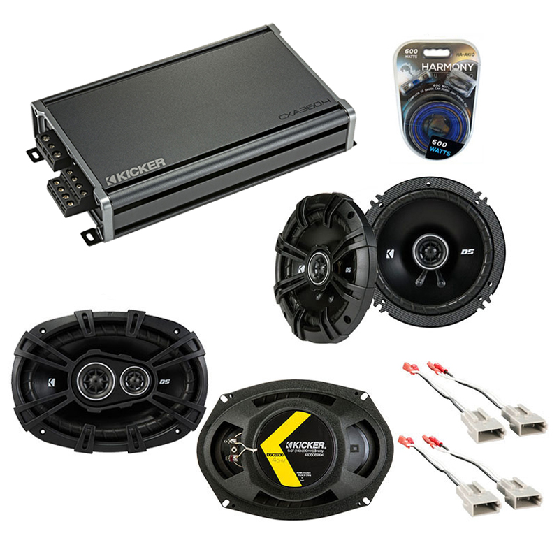 Compatible with Lincoln Mark VII 89-92 Speaker Replacement Kicker DSC65 DSC693 & CXA3004 Amp