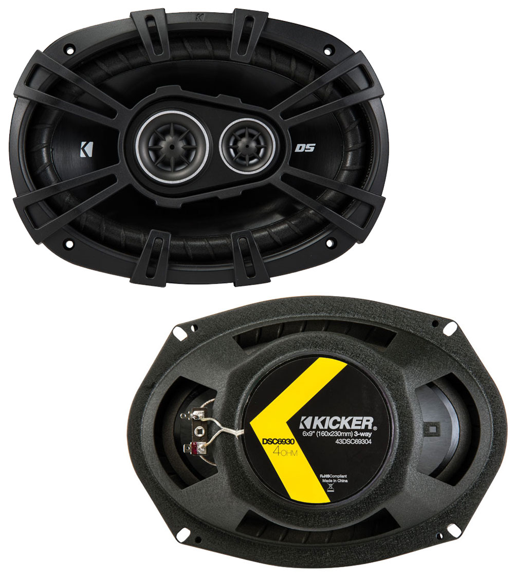 Lincoln Town Car 90-02 OEM Speaker Replacement Kicker DSC68 DSC693 &  CXA300.4 Amp