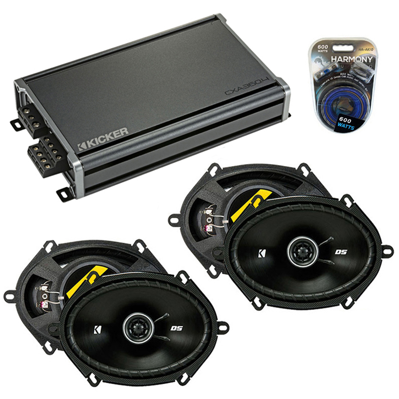 Compatible with Mazda B2300/B3000/B4000 94-94 Speaker Replacement Kicker (2) DSC68 & CXA3004 Amp