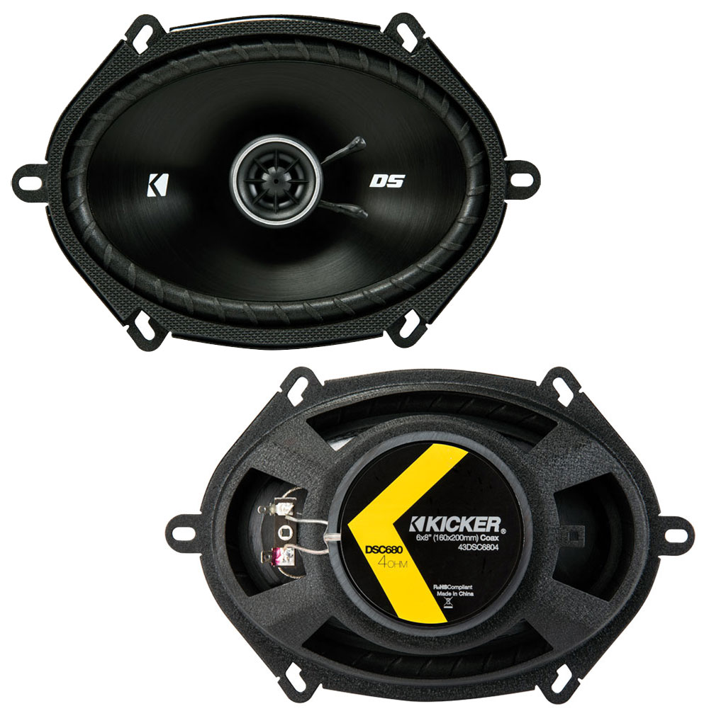 Mazda Miata 1998-2014 Factory Speaker Replacement Kicker DS Series Coaxial DSC68