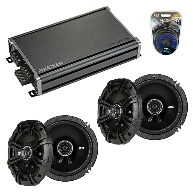 Compatible with Mercedes SLK-Class 05-11 Speaker Replacement Kicker (2) DSC65 & CXA3004 Amp