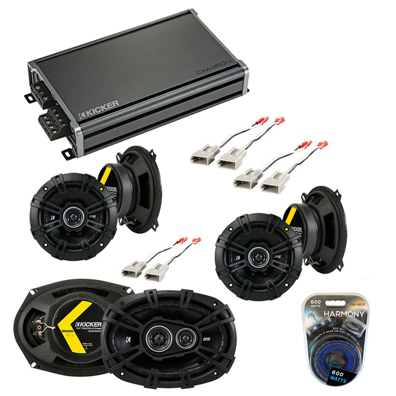 Compatible with Mercury Grand Marquis 89-91 Speaker Replacement Kicker DS Series & CXA300.4 Amp