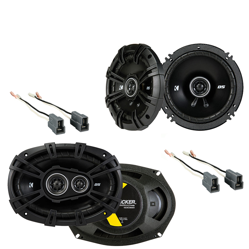 Kicker Compatible With 1995-05 Mitsubishi Eclipse DSC65 DSC693 New OEM Speaker Replacement Upgrade Package