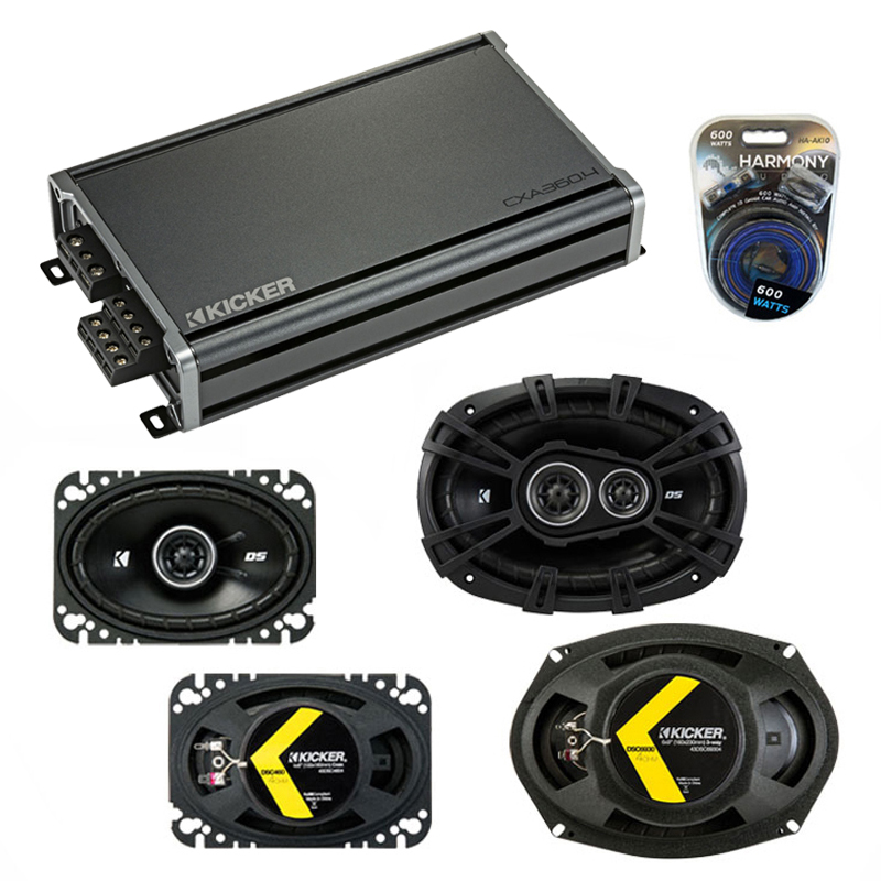 Compatible with Oldsmobile Alero 1999-2000 Speaker Replacement Kicker DS Series & CXA300.4 Amp