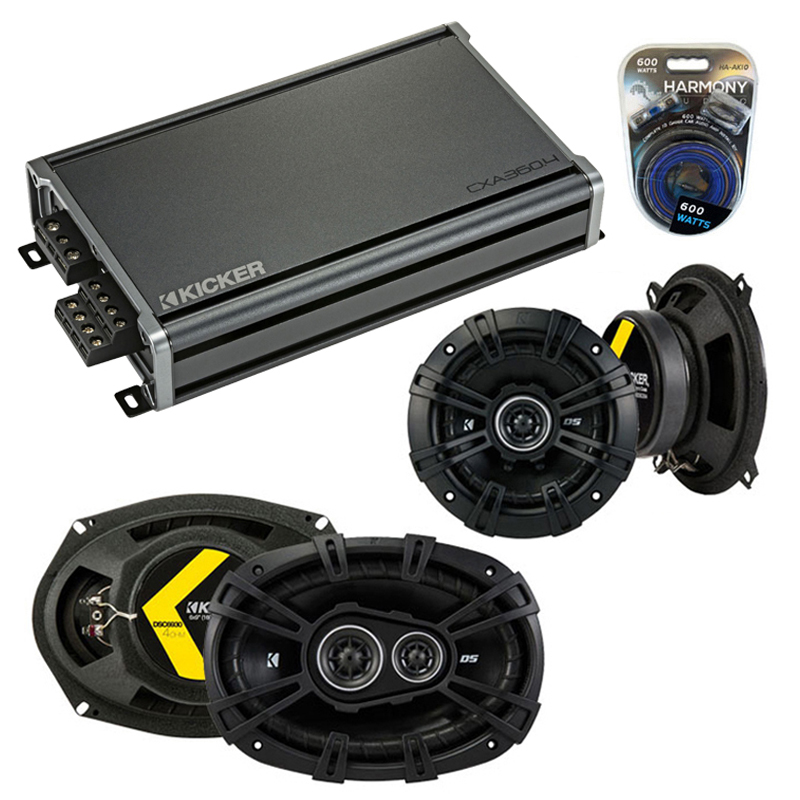Compatible with Oldsmobile Aurora 1995-2000 Speaker Replacement Kicker DS Series & CXA300.4 Amp