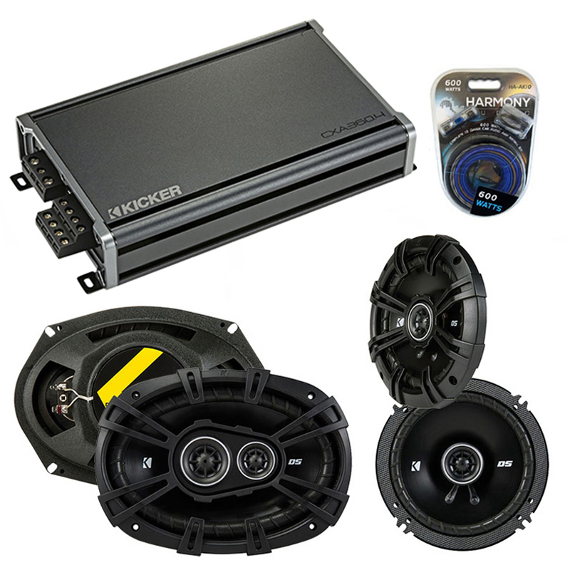 Compatible with Oldsmobile Aurora 2001-2003 Speaker Replacement Kicker DS Series & CXA300.4 Amp